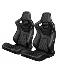 BRAUM ELITE-X SERIES RACING SEATS ( DIAMOND ED. | WHITE PIPING ) – PAIR