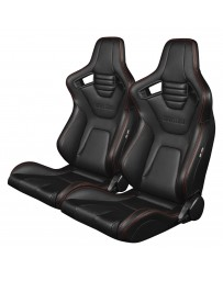 BRAUM ELITE-X SERIES RACING SEATS (RED STITCHING) – PAIR