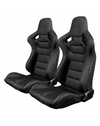 BRAUM ELITE SERIES RACING SEATS (WHITE STITCHING) – PAIR
