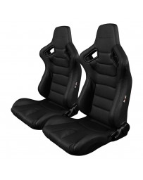 BRAUM ELITE SERIES RACING SEATS (BLACK STITCHING) – PAIR