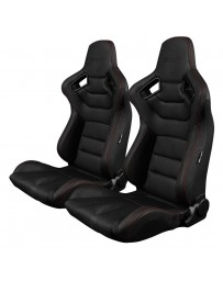 BRAUM ELITE SERIES RACING SEATS (RED STITCHING) – PAIR