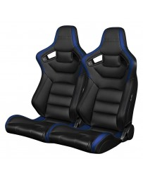 BRAUM ELITE SERIES RACING SEATS (BLACK & BLUE) – PAIR