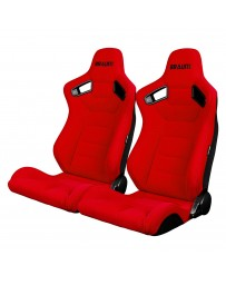 BRAUM ELITE SERIES RACING SEATS (RED CLOTH) – PAIR