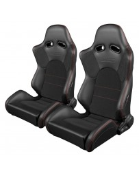 BRAUM ADVAN SERIES RACING SEATS (RED STITCHING) – PAIR