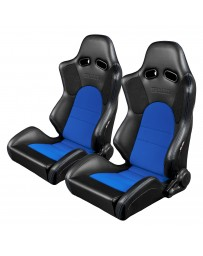 BRAUM ADVAN SERIES RACING SEATS (BLACK & BLUE) – PAIR