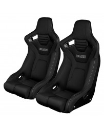 BRAUM ELITE-R FIXED BACK BUCKET SEAT ( BLACK CLOTH - BLACK PIPING )