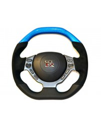Nissan GT-R R35 DCTMS Track Edition Blue Steering Wheel