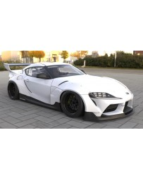 Toyota Supra A90 Pandem Rocket Bunny wide body kit with wing