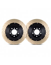 Nissan GT-R R35 Stoptech 09-11 Front AeroRotor Two-Piece Rotors - Zinc Drilled - Pair
