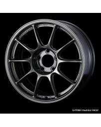 WedsSport TC-105X 17x8 5x114.3 ET49 Wheel- Titanium