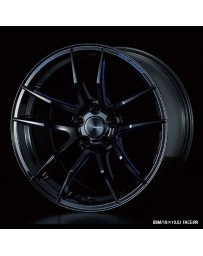 WedsSport RN-55M 18x10.5 5x114.3 ET20 Wheel- Black with Blue Machining
