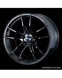 WedsSport RN-55M 18x10 5x114.3 ET36 Wheel- Gloss Black