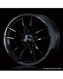 WedsSport RN-55M 18x9.5 5x114.3 ET45 Wheel- Gloss Black