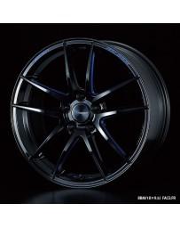 WedsSport RN-55M 18x9.5 5x114.3 ET38 Wheel- Black with Blue Machining