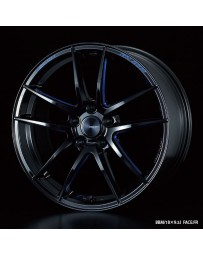WedsSport RN-55M 19x8 5x114.3 ET45 Wheel- Black with Blue Machining