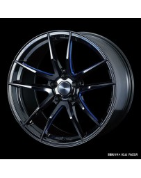 WedsSport RN-55M 19x10.5 5x114.3 ET32 Wheel- Black with Blue Machining