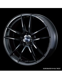 WedsSport RN-55M 19x8 5x112 ET48 Wheel- Gloss Black
