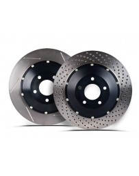 Nissan GT-R R35 Stoptech 09-11 Rear AeroRotor Two-Piece Rotors - Drilled - Left