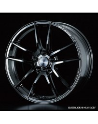 WedsSport RN-55M 18x7.5 5x114.3 ET34 Wheel- Gloss Black