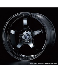 WedsSport RN-05M 18x10 5x114.3 ET36 Wheel- Gloss Black