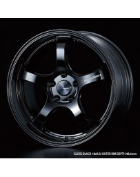 WedsSport RN-05M 18x9.5 5x114.3 ET22 Wheel- Gloss Black