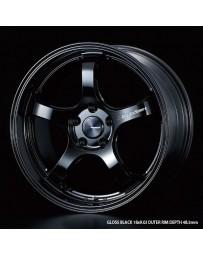 WedsSport RN-05M 18x9 5x114.3 ET43 Wheel- Gloss Black
