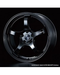 WedsSport RN-05M 18x8 5x114.3 ET35 Wheel- Gloss Black
