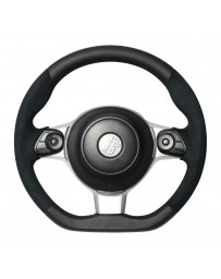 Toyota GT86 REAL JAPAN Steering wheel - Black Leather & Black Ultra Suede - Black Euro Stitch