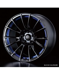 WedsSport SA-72R 18x9.5 5x114.3 ET12 Wheel- Blue Light Chrome Black