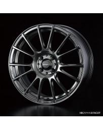 WedsSport SA-72R 17x7 4x100 ET50 Wheel- Hyper Black