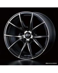 WedsSport SA-10R 18x9.5 5x114.3 ET45 Wheel- Zebra Black Bright