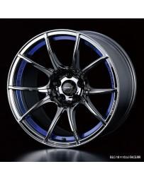 WedsSport SA-10R 18x8.5 5x114.3 ET45 Wheel- Blue Light Chrome Black
