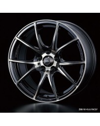 WedsSport SA-10R 18x7.5 5x100 ET45 Wheel- Zebra Black Bright