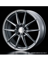 WedsSport FT-117 20x8.5 5x114.3 ET35 Wheel- Diamond Silver