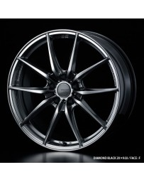 WedsSport FT-117 20x8.5 5x114.3 ET35 Wheel- Diamond Black