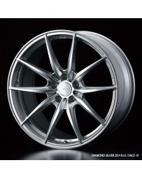 WedsSport FT-117 20x9.5 5x112 ET48 Wheel- Diamond Silver