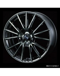 WedsSport SA-35R 17x7.5 4x100 ET38 Wheel- Weds Black Chrome