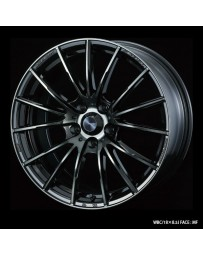 WedsSport SA-35R 18x8.5 5x114.3 ET35 Wheel- Weds Black Chrome