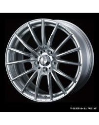WedsSport SA-35R 17x7.5 4x100 ET38 Wheel- Silver