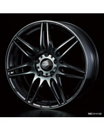 WedsSport SA-77R 15x6 4x100 ET38 Wheel- Weds Black Chrome