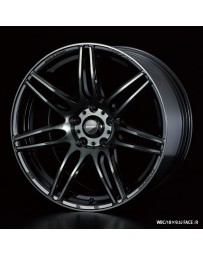 WedsSport SA-77R 18x9.5 5x114.3 ET45 Wheel- Weds Black Chrome