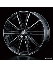 WedsSport SA-54R 17x7 4x100 ET43 Wheel- Weds Black Chrome