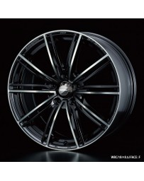 WedsSport SA-54R 18x8.5 5x114.3 ET50 Wheel- Weds Black Chrome