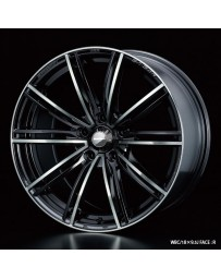 WedsSport SA-54R 18x9.5 5x100 ET45 Wheel- Weds Black Chrome