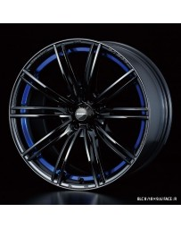 WedsSport SA-54R 17x7 4x100 ET43 Wheel- Blue Light Chrome Black