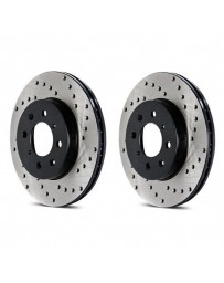 Toyota GT86 StopTech Discs - Front pair - DRILLED