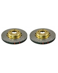 Toyota GT86 DBA 5000 Series Discs - Front pair - DRILLED & SLOTTED with Gold Hat
