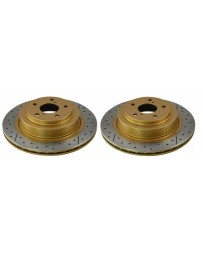 Toyota GT86 DBA Street Series Discs - Rear pair - DRILLED & SLOTTED