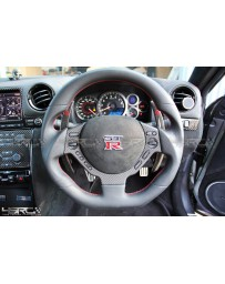 4 Second Racing Club Nissan GT R35 dry carbon steering wheel centre control cover