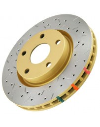 350z DBA 4000 Series XS Premium Drilled/Slotted Rotors, Front